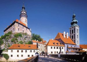 Krumlov bridge with the castle